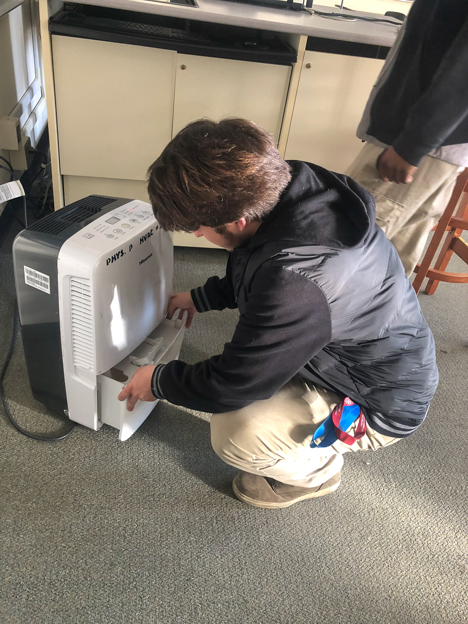 Nick Myers of CofC's HVAC shop works during the 2020 Covid-19 pandemic.