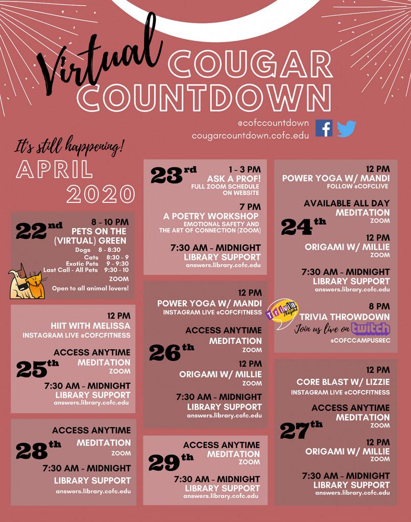 Cougar Countdown calendar