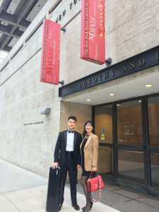 Tianyu Liu and LeeChin Siow at a theater in New York City.