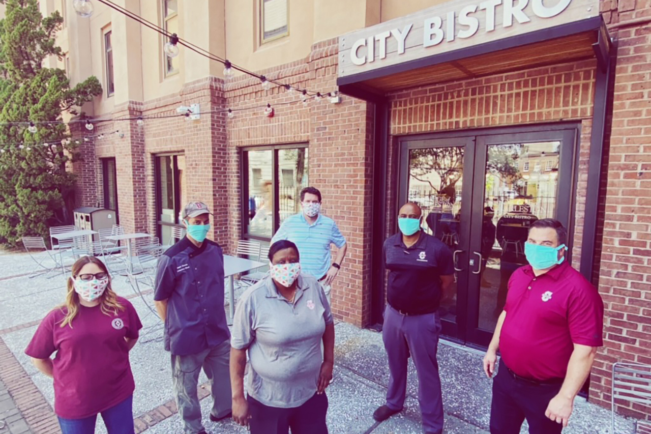 dining services staff at City Bistro