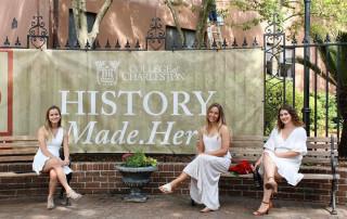 CofC 2020 Graduates Haleigh Ferro, Mckenzie Daniels & Stephanie Hustad