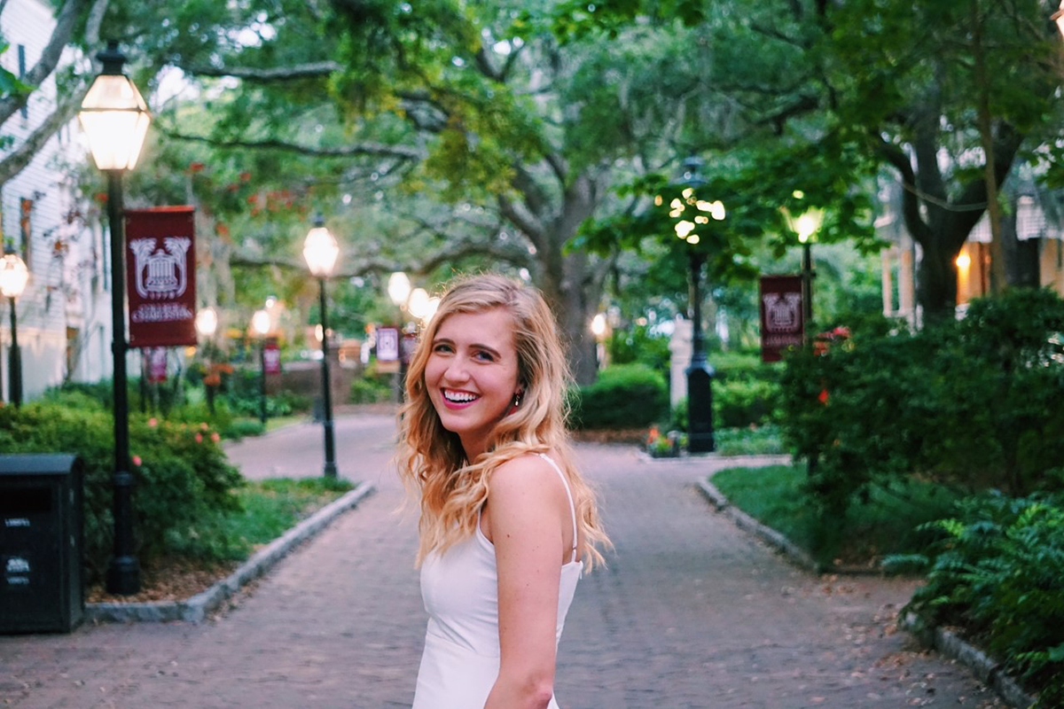 Madi Crow, Hometown: Franklin, TN, International Studies and Spanish major, Future Plans: I am planning to spend time in Spain either as an English teaching assistant or for graduate school in order to further improve my Spanish skills in preparation for a bilingual career!