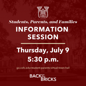 back on the bricks plan info session poster