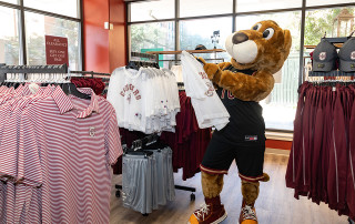 Clyde with Cougar Gear at Bookstore