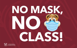 no mask no class sign