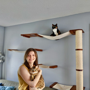 Amy Gordanier and Cats