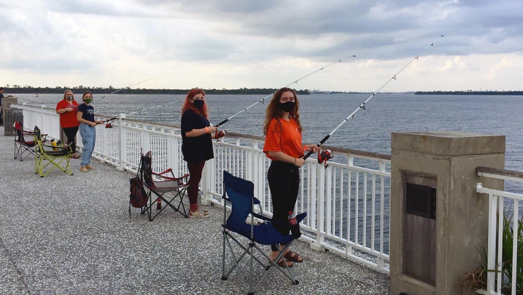 students participate in fishing on fridays