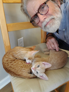 Jim Ward with Cats