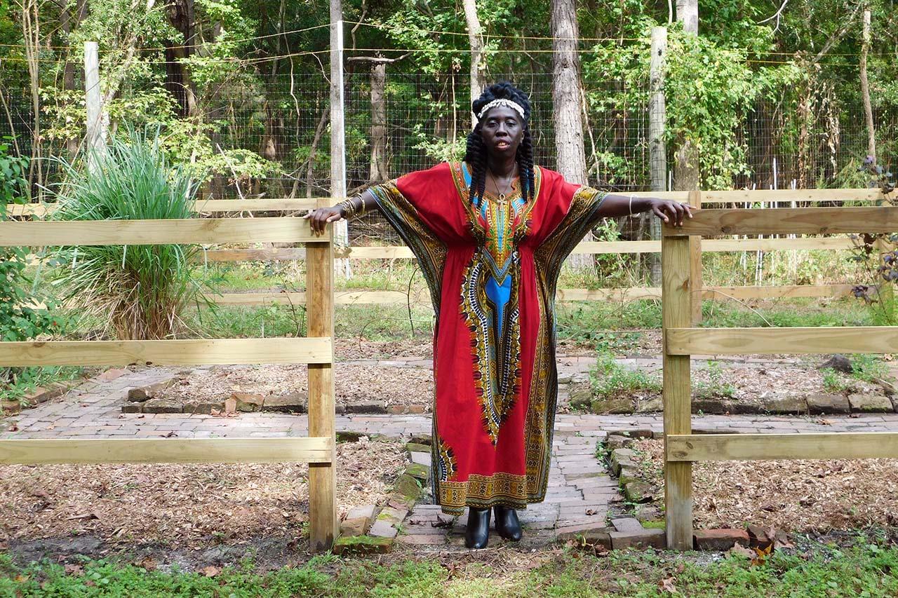 Queen Quet at Hidden Hands Garden