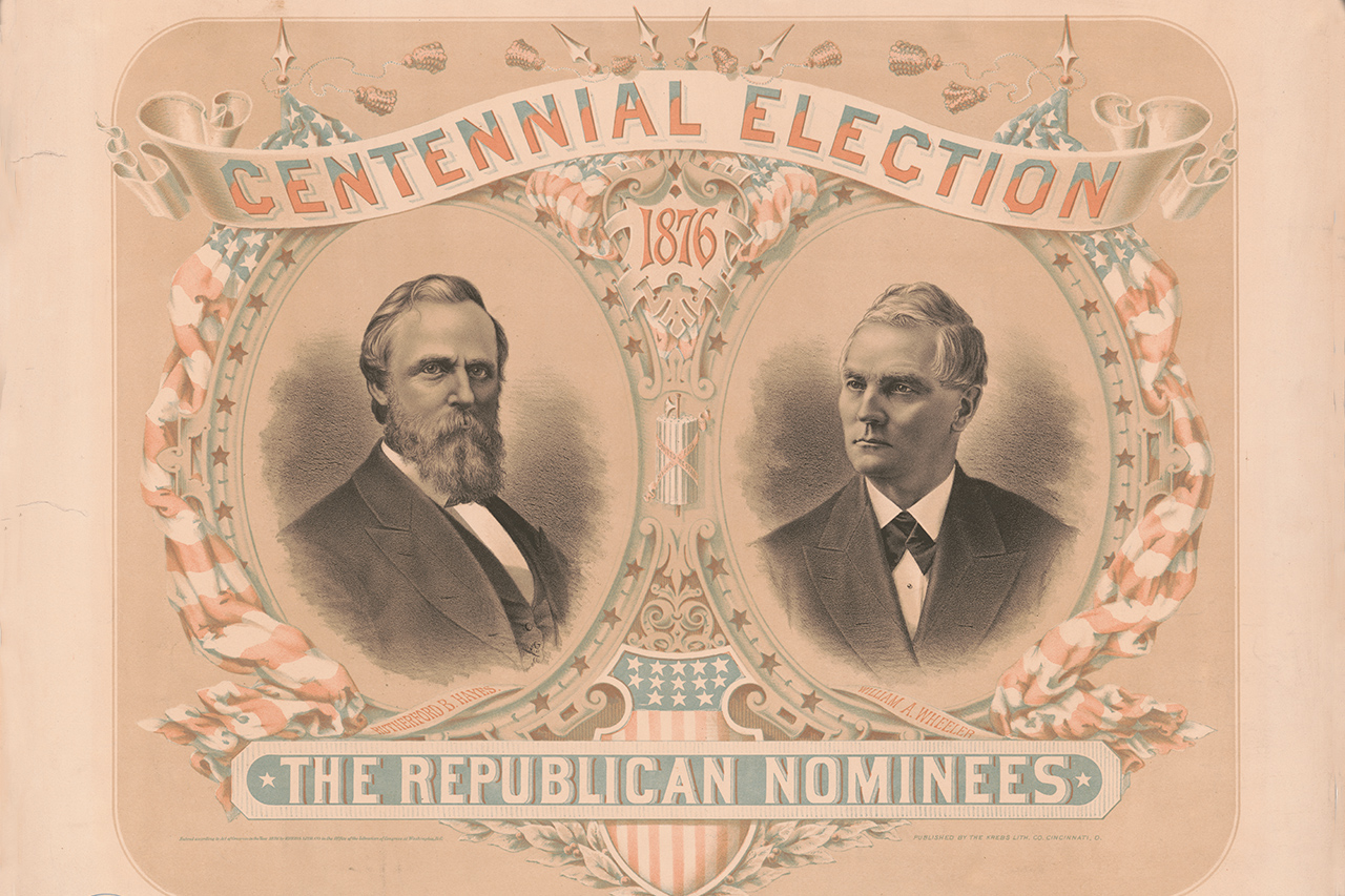Rutherford Hayes Election Poster