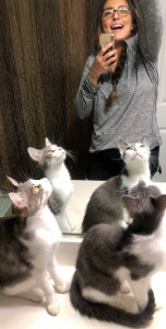 Sara Coleman with Cats
