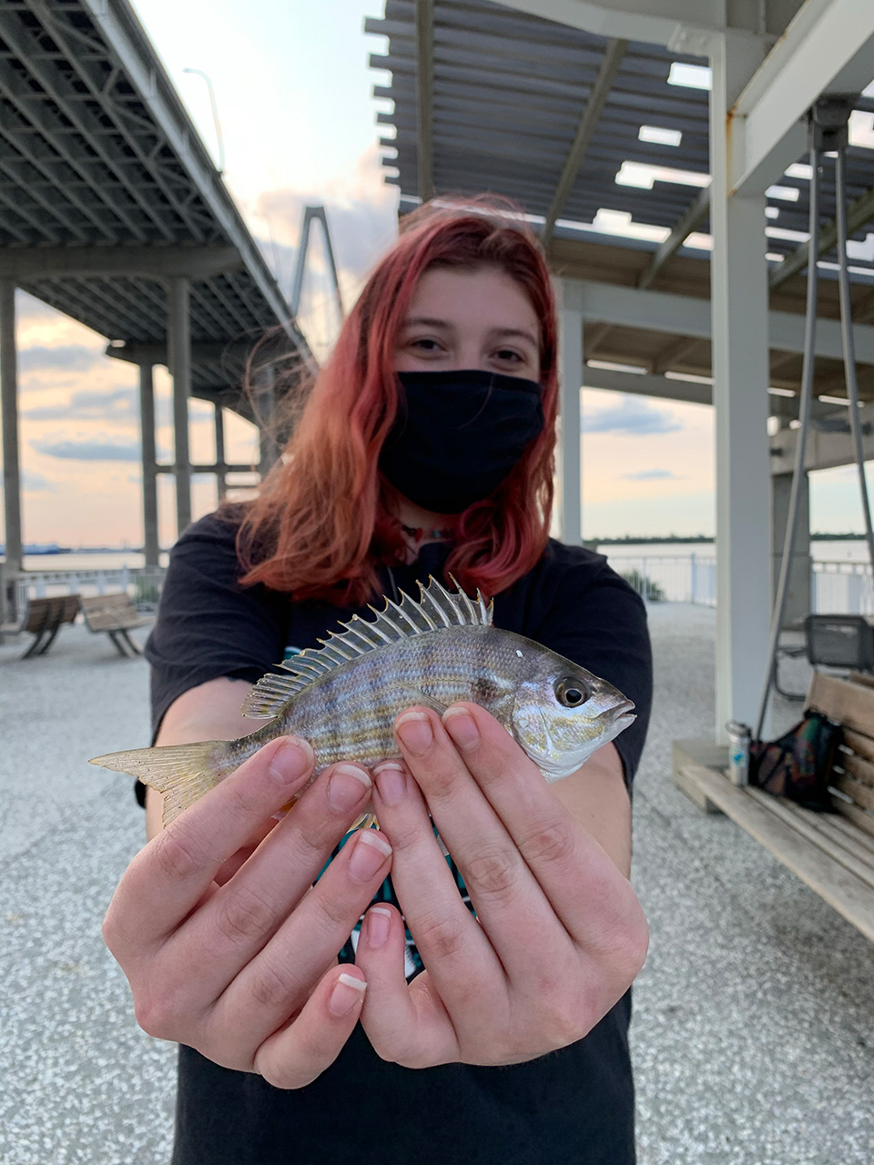 CofC students participate in Campus Rec's Fishing Friday's at Mount Pleasant's Waterfront Park.