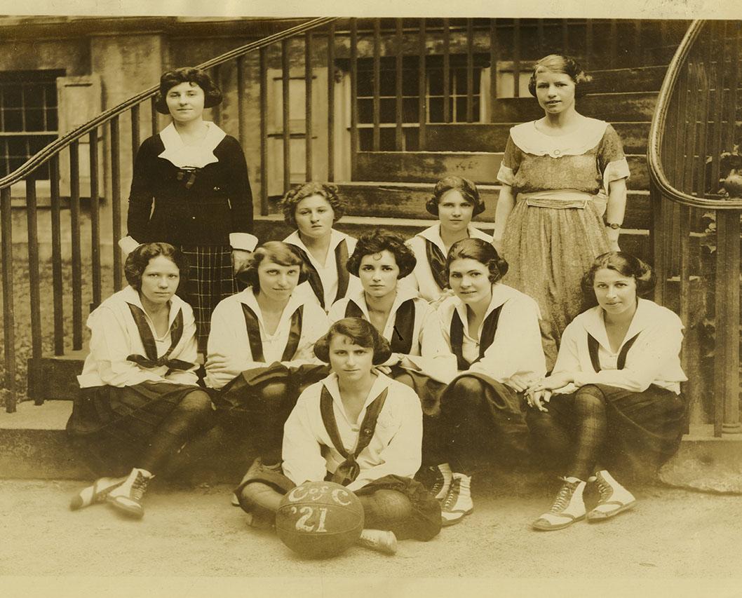 CofC first women's basketball team