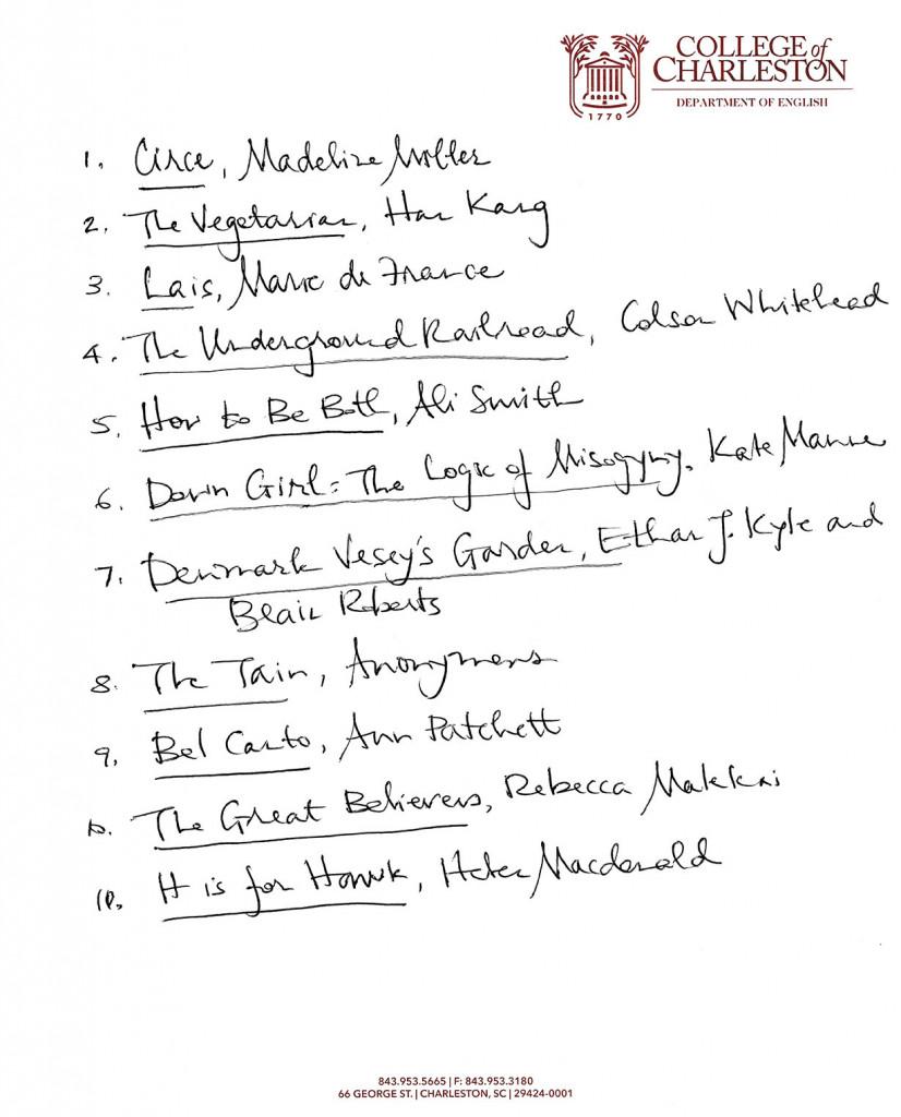 top 10 book list