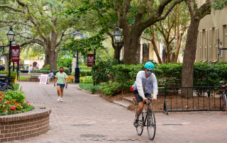 green way on the cofc campus