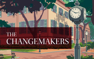 randolph hall and clock graphic