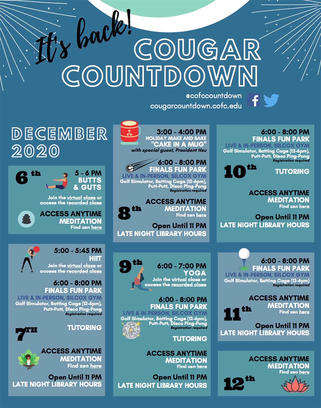 Cougar Countdown flyer