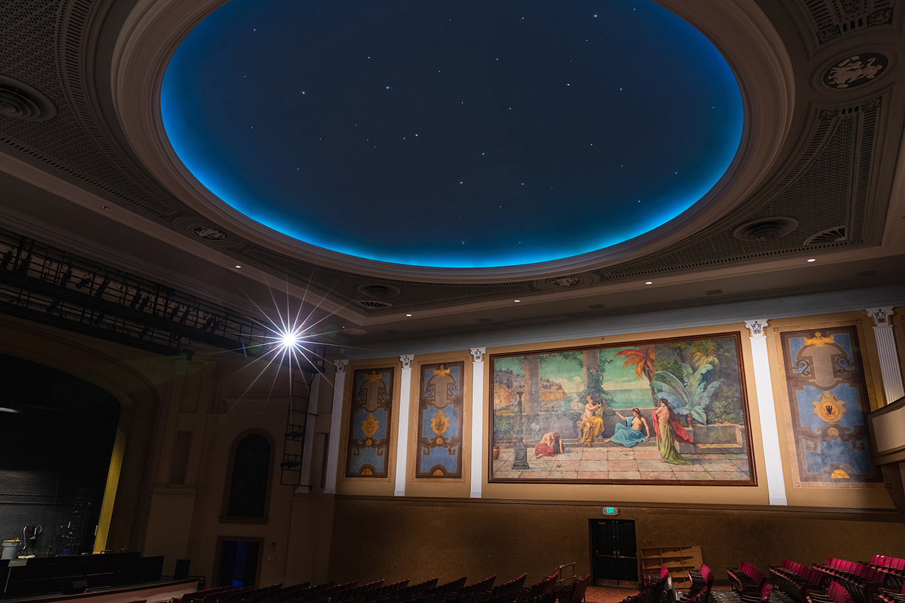 interior of sottile theatre