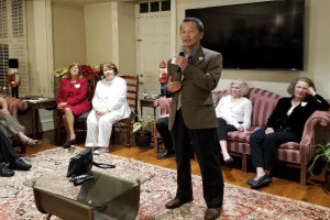 President Hsu speaks to Retired Faculty and Staff Council