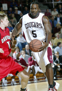 jermaine johnson plays basketball for the Cougars during his sophomore year at cofc