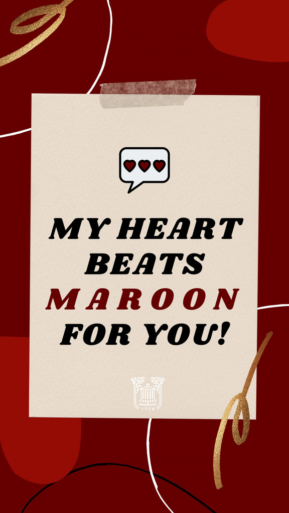 my heart beats maroon for you valentine