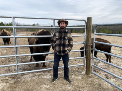Bison Ranch Holds Precious Treasures for CofC Staffer
