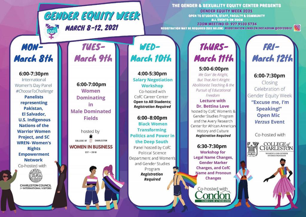 gender equity week flyer