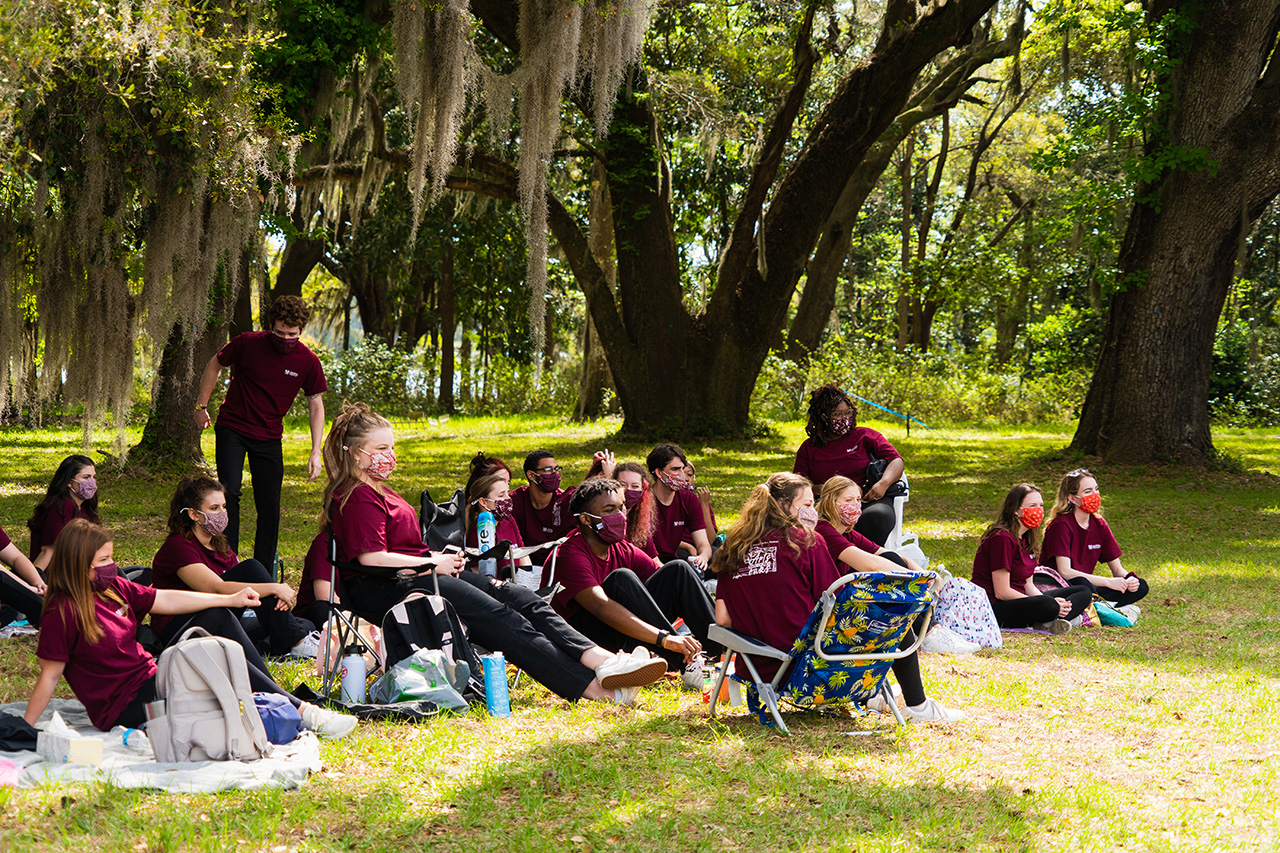 Students from the School of the Arts at College of Charleston perform at Arts Under the Oaks, Stono Preserve, Hollywood, SC.