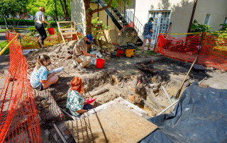 Phase III of the CofC excavation at the Solar Pavillion began this week with the archeology department.