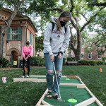 students play putt putt