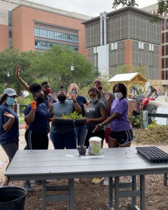 Minorities in Medicine students at the musc urban farm
