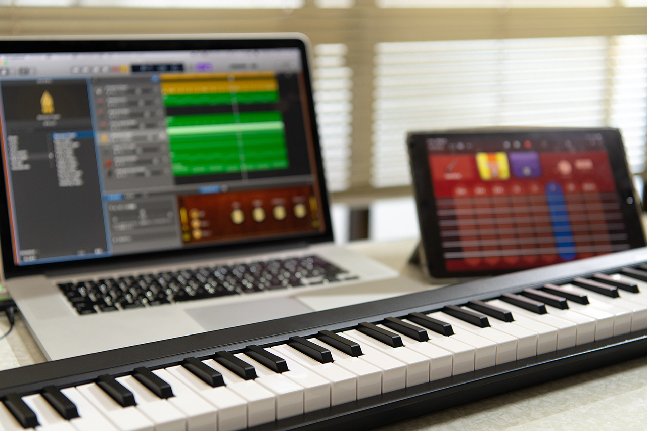 a key board and computers for computing in the arts