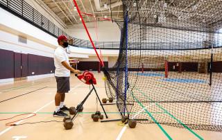 freddie lipata at batting cage