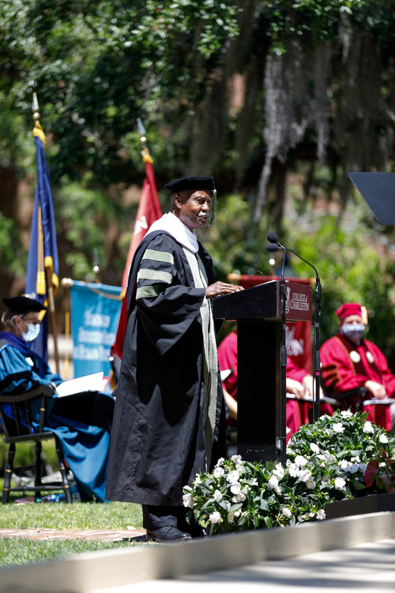 Spring Commencement at the College of Charleston.