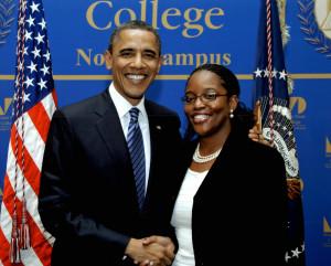 Barack Obama and Michelle Asha Cooper