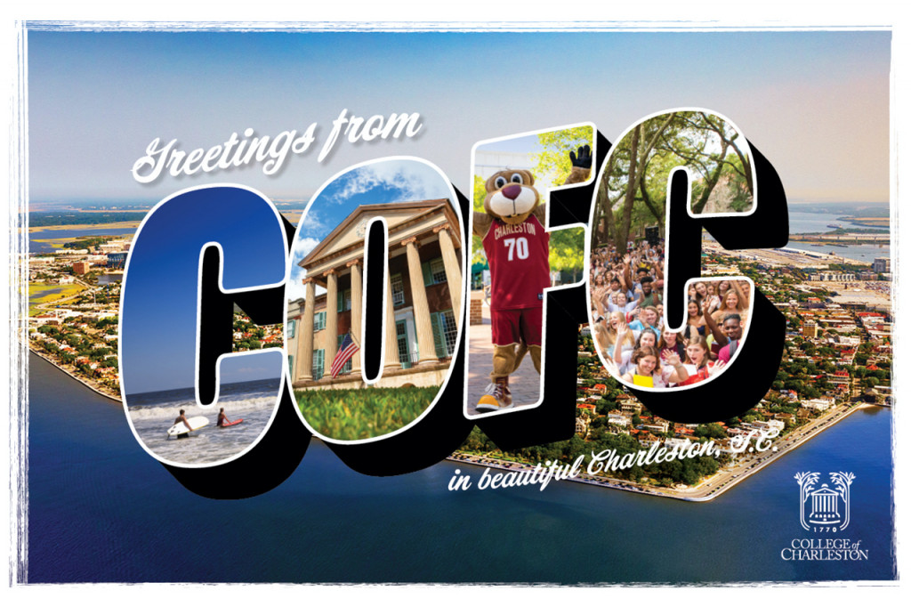 Greetings CofC postcard