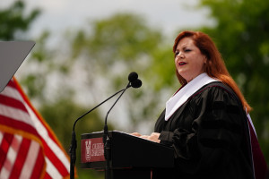 Helen Turner Hill speaks at the college of charleston commencement