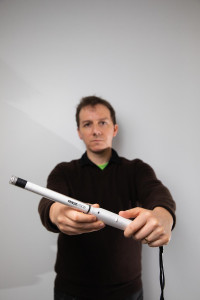 joe carson with first portable 3D colposcope