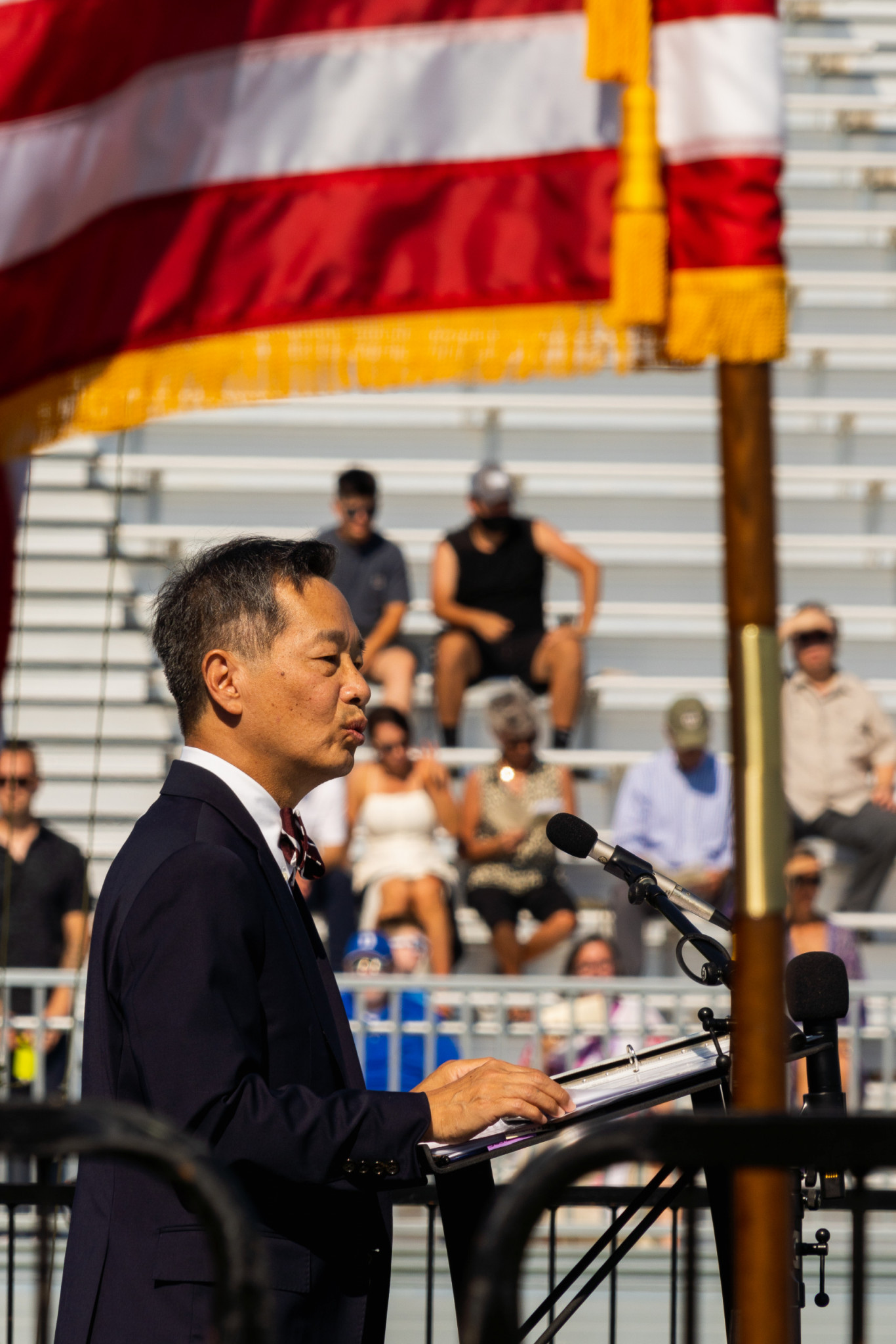 President Andrew Hsu speaks at the Academic Magnet High School 2021 Commencement.