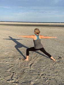 Alicia Caudill doing yoga