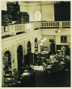 Students inside Towell Library