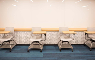 empty chairs in RITA classroom