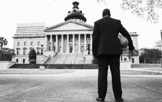 ollege of Charleston alum and South Carolina Representative Jermaine Johnson at the State House, Columbia, SC.