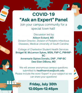 covid-19 ask an expert panel flyer