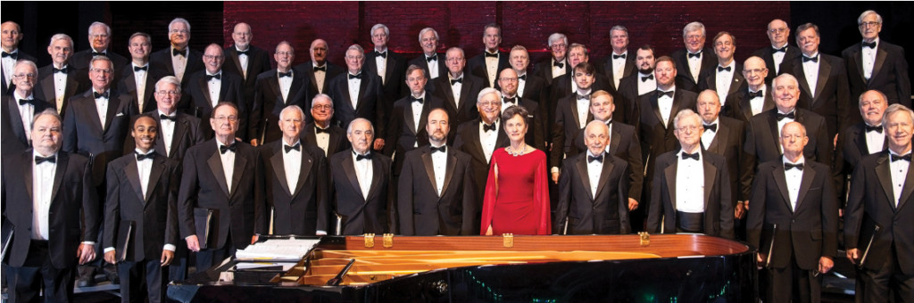 Driq Graves (bottom left) performed with the Charleston Mens Chorus as part of a scholarship he received through the organization.