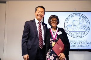 lucille whipper with cofc president andrew hsu