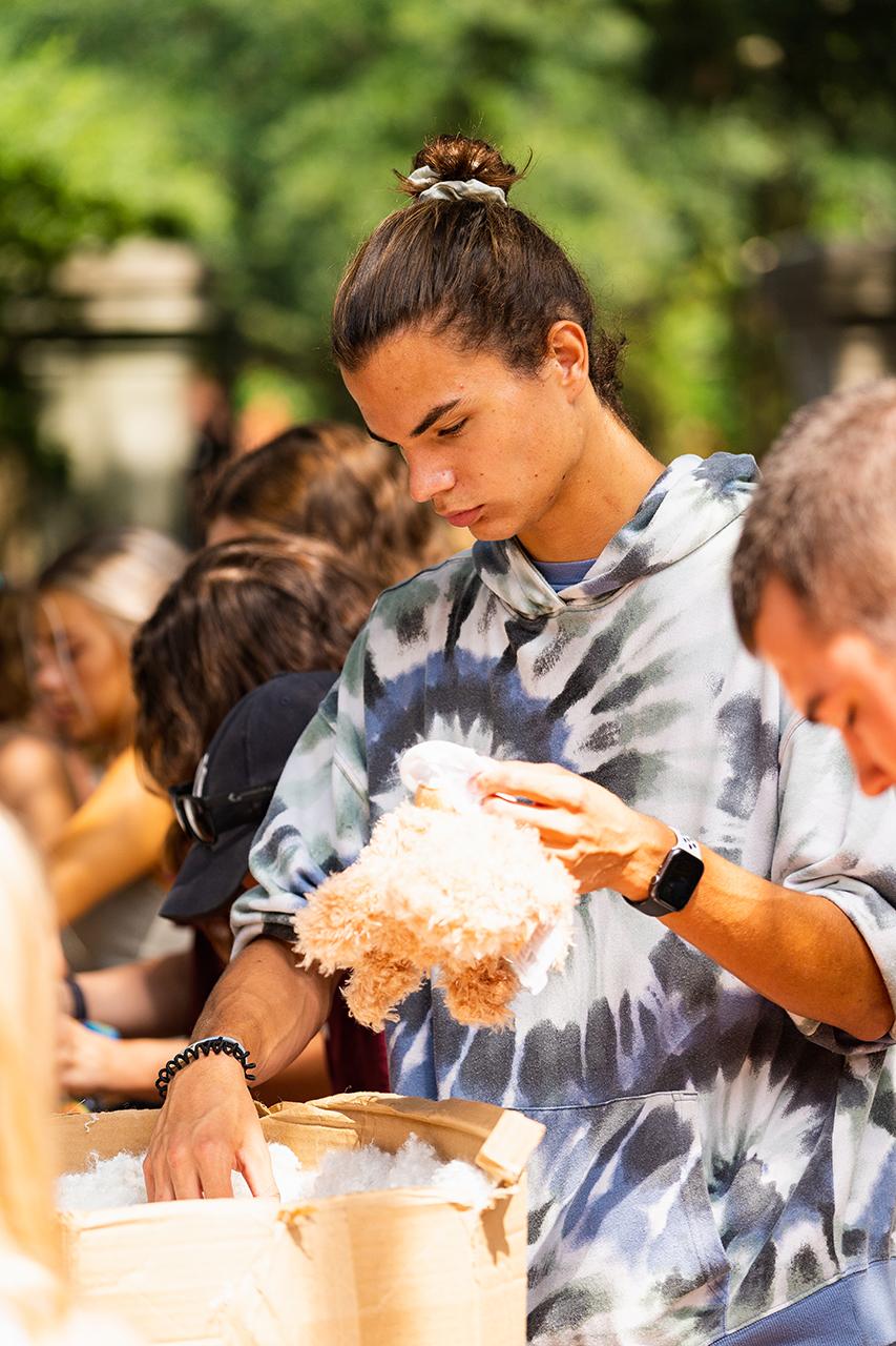 Students celebrate Maroon Mayhem 2021 at the College of Charleston.