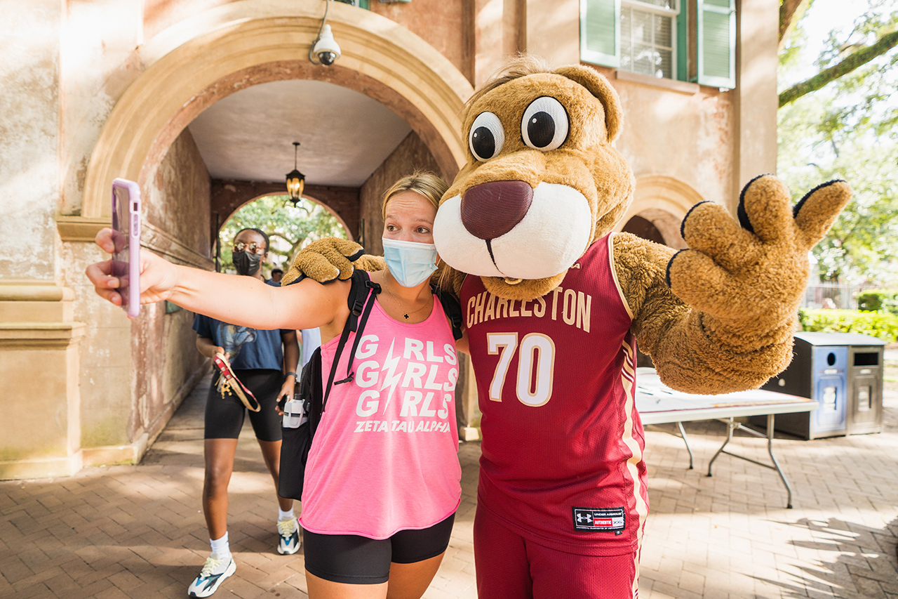 Sophomore students attend Convocation at the College of Charleston