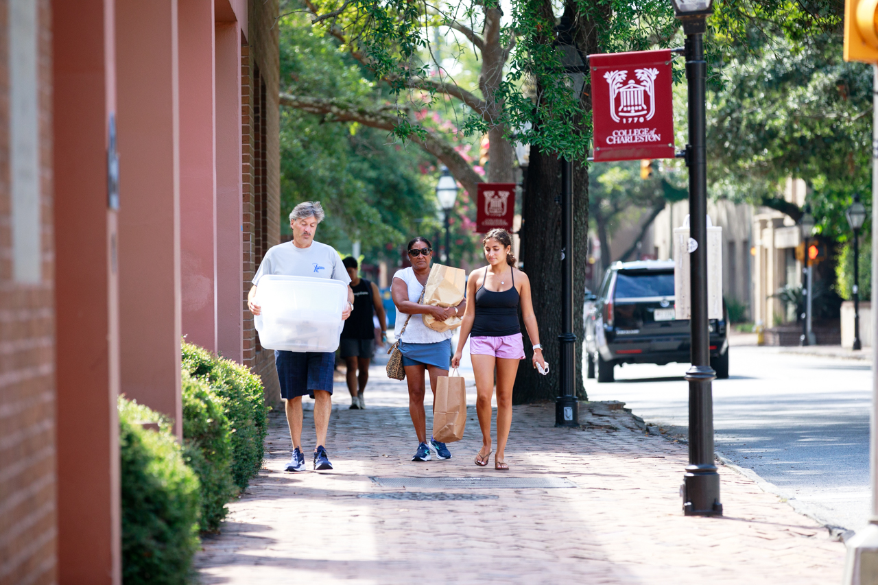 College of Charleston students move into dorms for Fall semester 2021.