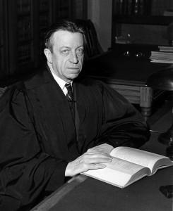 black and white photo of judge waites waring